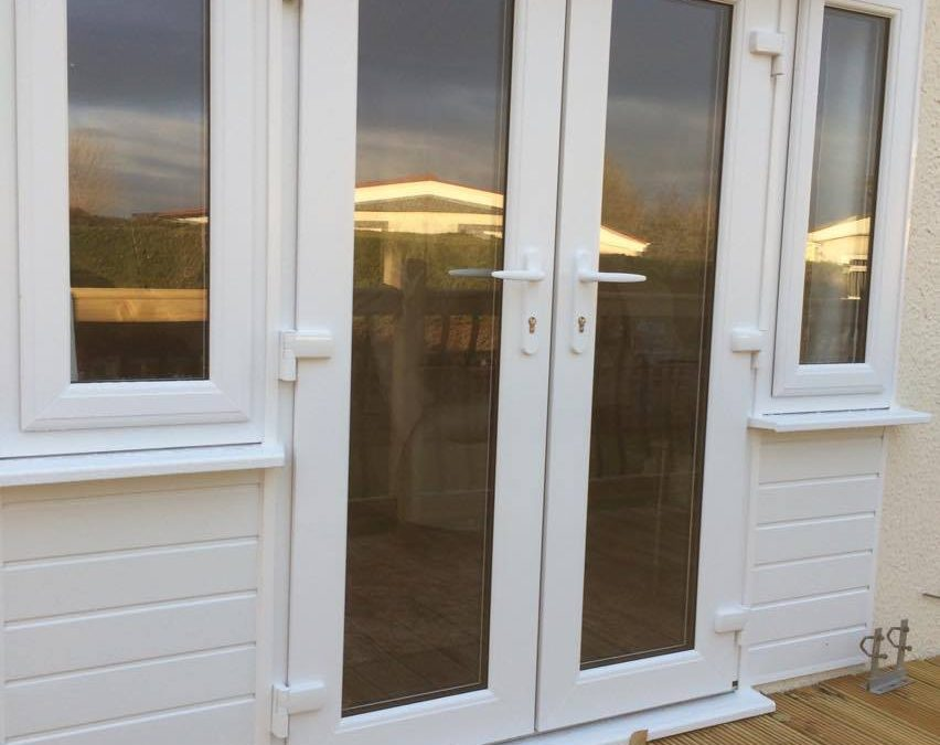 New Patio Doors In A Static Caravan Window Repair Solutions