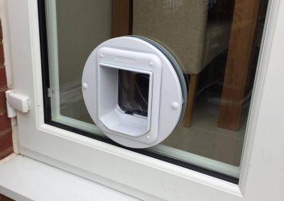 House in Fleetwood - Cat flap in a upvc patio door